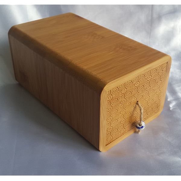 Eco-friendly bamboo drawer funeral casket for human