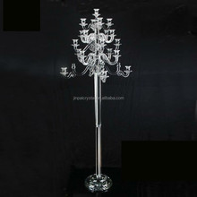21 Arms Tall Wedding Decoration Floor Standing Crystal Candle Holders