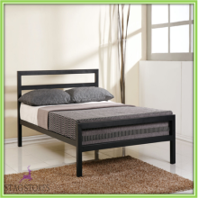New City Block 4ft Small Double Black Modern Metal Bed Frame