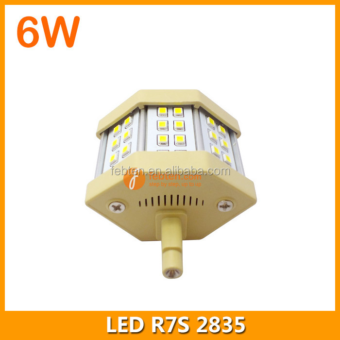 78mm 6W SMD R7S LED lamp replace halogen flood light