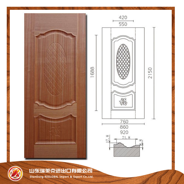 High Quality Moulded Door,melamine door ,melamine skin color