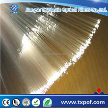 TXPOF China Supplier transparent waterproof PMMA plastic fiber optic light for illumination and decoration