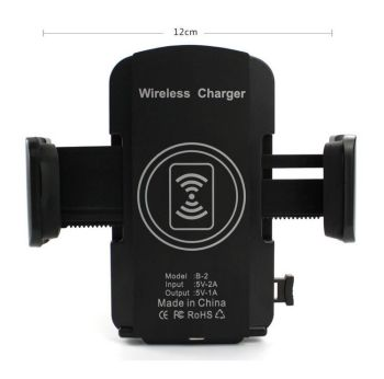 Alibaba High Quality Qi Wireless Charging Car Phone Charger Holder For Iphone