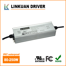 100-277VAC IP67 Aluminum housing 60W 100W 120W 150W 300W constant voltage led power supply 12V 8A 5A 12A 24V 4A 5A UL Listed