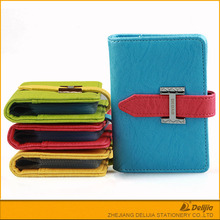 Hot sales superior quality portable cute beautiful soft leather card holder