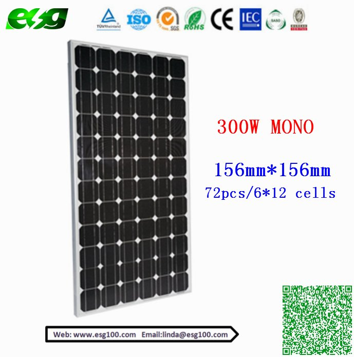 23% High efficiency Solar Panel 96Pcs Mono 5000W sun power 300w 315w solar panel price