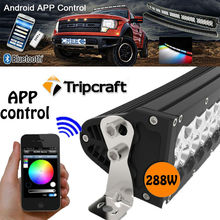 High quality 52 inch 288w Curved led light bar with bluetooth APP controlled