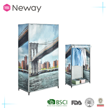 popular 2017 hot sell made in china home furniture cloth bedroom wardrobe
