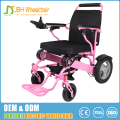 Medical silver, red, blue, yellow pink aluminium power folding electric wheelchair picture with convenient wheelchair controller