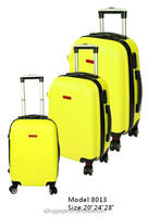 classic 4 wheels zipper luggage