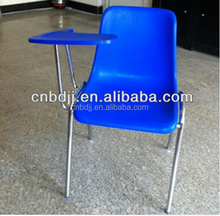modern design replica school furniture stackable plastic tablet school chair wholesale plastic chair with writing pad