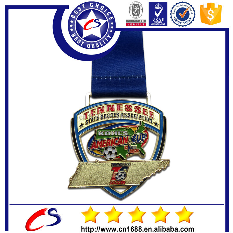 hot selling custom design football medals for sports authority