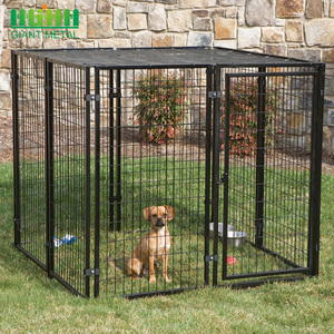 China Factory Wholesale Black Color Pet Dog Kennels Cages House outdoor