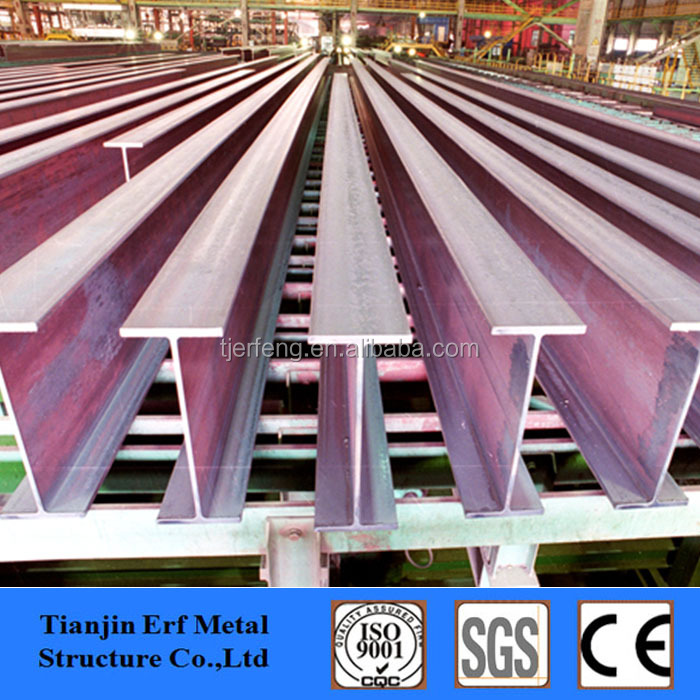 Weld Used Steel Profile H-beam , H beam H Type Steel Columns for Warehouse Construction