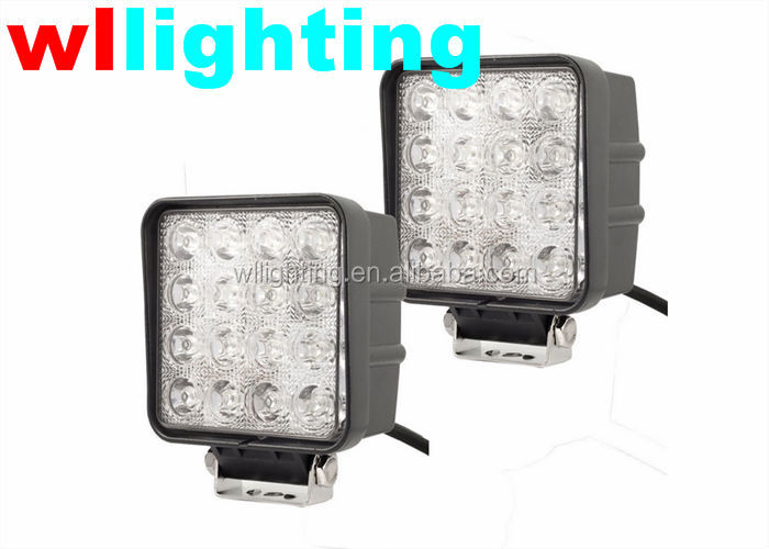 WLLIGHTING led truck and trailer lights, 12V 24V 48W 4x4 flood lights