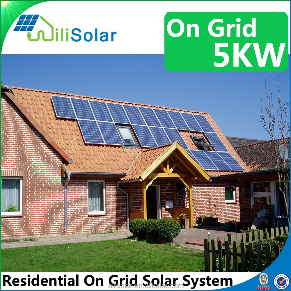 solar pv power system 5kw 250w solar panels/modules for home electricity