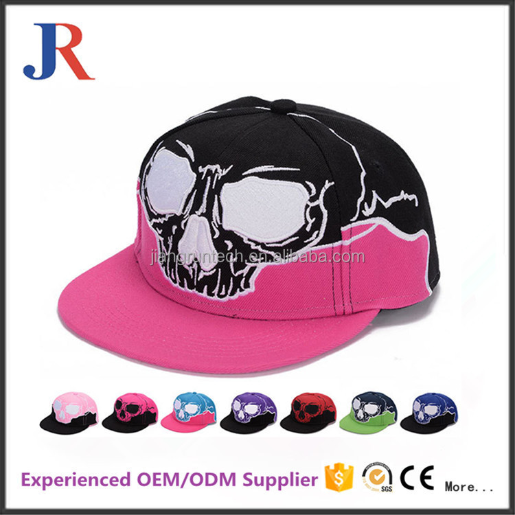 Wholesale custom fashion 100% acrylic factory price french design 3d logo snapback hat cap