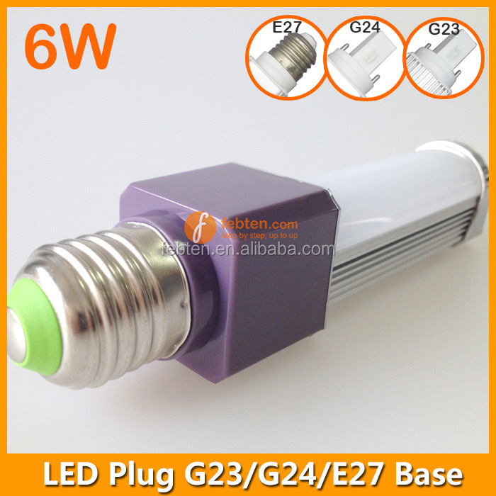 PL Lamp 6W G24 4 Pin LED G23 G24 E27 Base SMD5730 LED G23