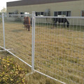 outdoor pvc coated galvanized square tube temporary fence