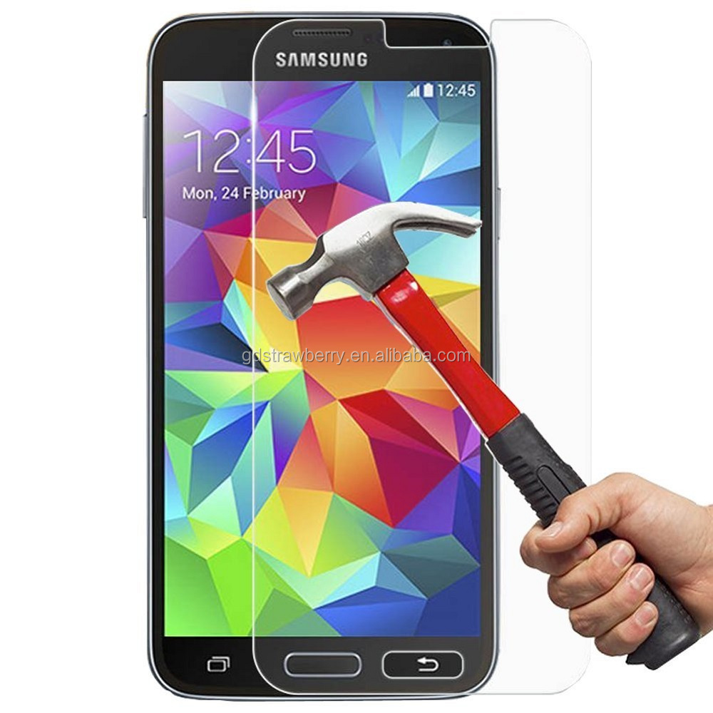 mirror diamond tempered glass screen protector for samsung galaxy s5