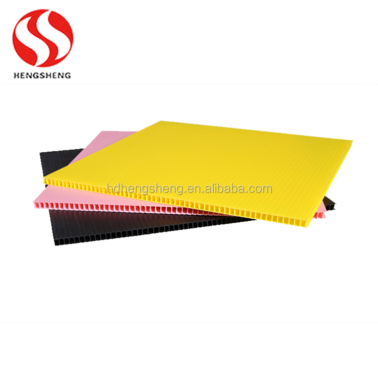 Best price recyclable corrugated PP customize thin rigid plastic sheet