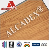 teak wooden pattern acm finished aluminum composite panel facade panel