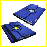 New 360 Rotating PU Leather Case Cover w Stand For Apple iPad air blue