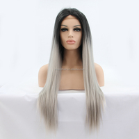 Cheap dreadlocks ombre color synthetic lace front wig