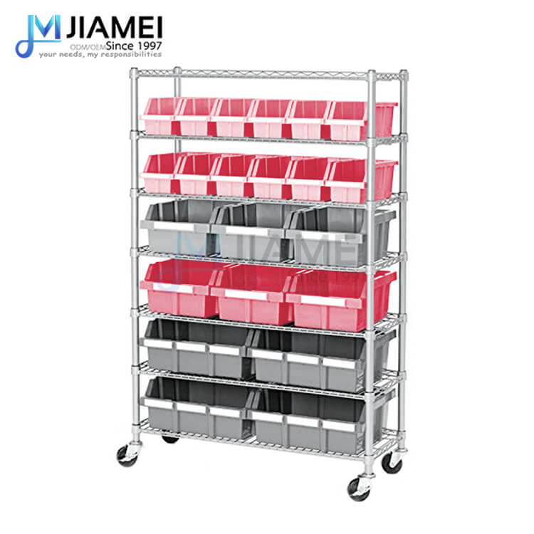 7 Layers Steel Bin Storage Rack  for Hospital Used (JSW143656)