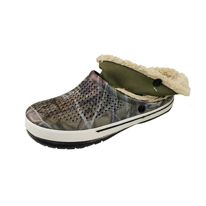 Customized washable camouflage eva plastic garden clogs for men