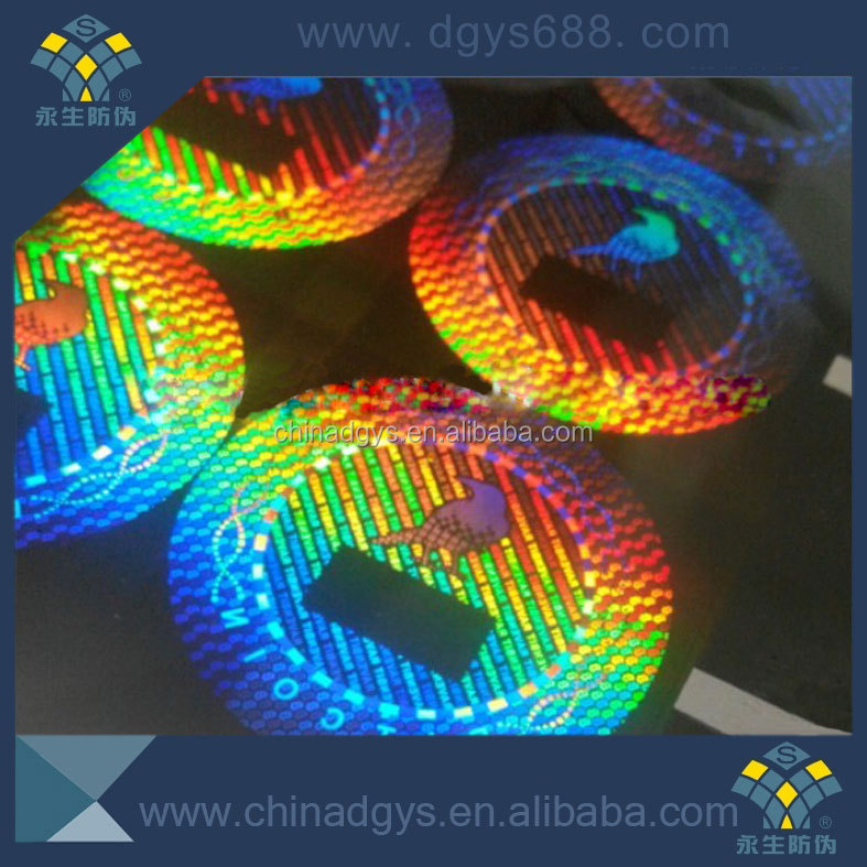Custom colorful adhesive 3d hologram sticker