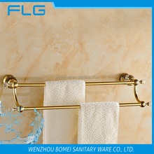 Jade Household Hotel Bathroom Accessories Wall Mounted Gold Brass Double Bar Towel Bar BM88948 Towel Holder Towel Stick
