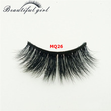 wholesale customized logo natural & delicate 3D mink false eyelash