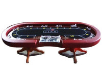 Texas poker table top /luxury poker table with solid wood