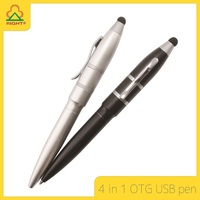 4 In 1 metal stylus touch pen ballpoint pen and OTG USB