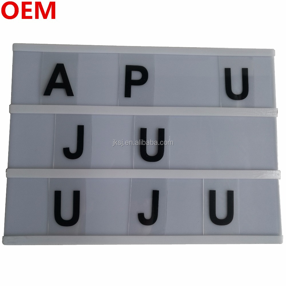 DC9V USB Wire Customized DIY Free Combination changeable letter board <strong>advertising</strong> slim light box