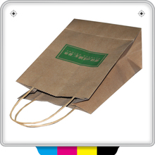 cheap brown paper bags with handles with logo print