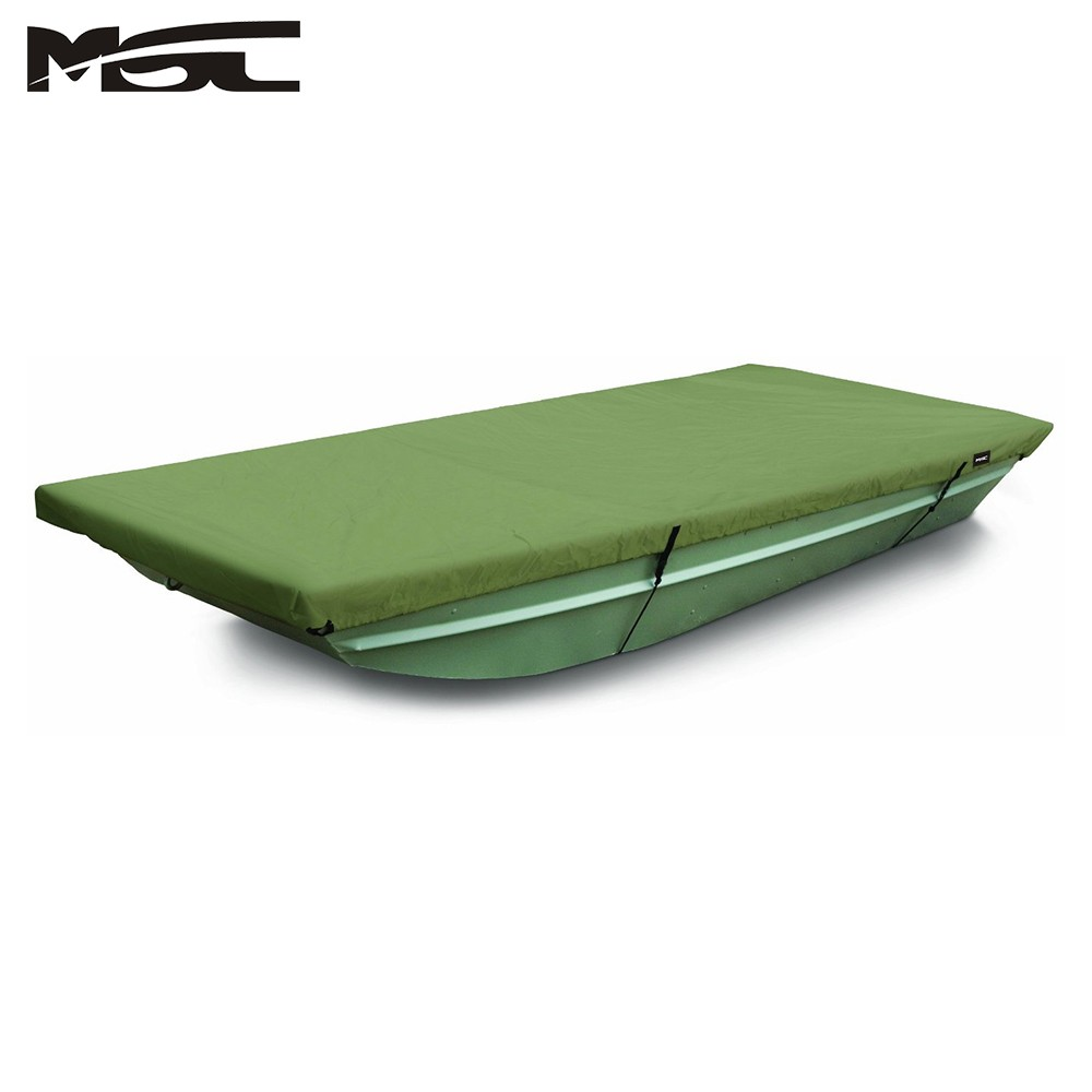MSC 100% Polyester Jon Boat Cover Color Olive Water repellent UV resistant Jon Boat Cover, Easy fit and installation