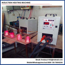 Medium frequency electric induction heater for bolts