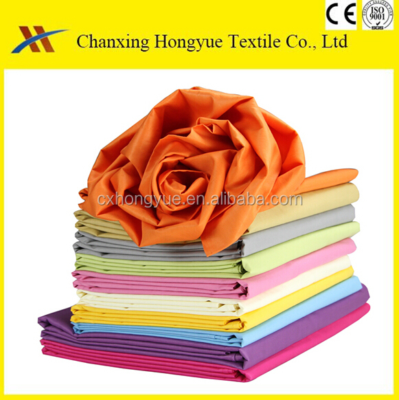 Hang samples 100 Polyester solid color textile fabric from changxing manufacturer