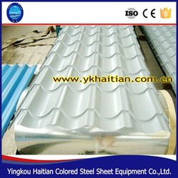 Environment friendly metal roof tile, new building construction materials different color galvanised metal steel roofing tile