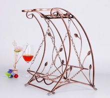 2017 new design swing style metal wine rack wine glass holder