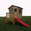 Wooden children cubby playhouse