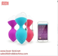 Rechargeable APP controlled Vibrating Massager vagina ball sex toy for women