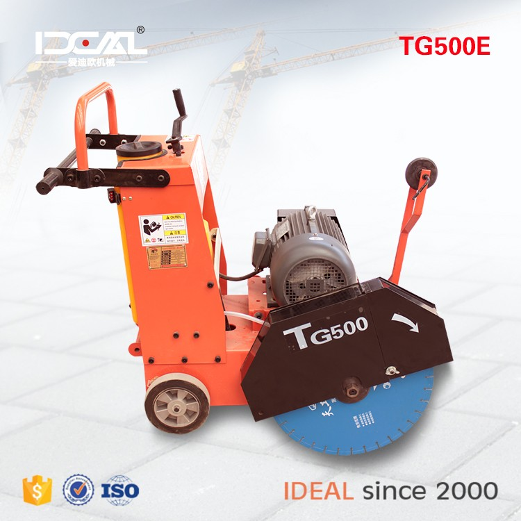 TG500 electrical road cutting machine motor type concrete road cutter hand hold road saw