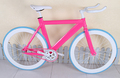 Aluminum Frame Alloy Bike Pink Yellow Cyan Frame 700C Fixie Gear Road Bicycle Factory Price
