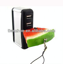 Watermelon shape memory disk, Beautiful USB flash disks,PVC watermelon usbs
