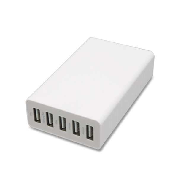 EU Plug 5 Ports USB Mobile Phone Adapter 5A 1.5M Wall Dock USB Charger For iPhone 6/iPad/Samsung Charging Device Adapter