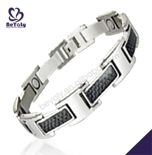 Shiny cool fashion leather bezel bracelet blanks