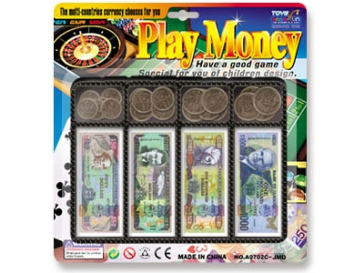 Jamaican Dollars money play set toy